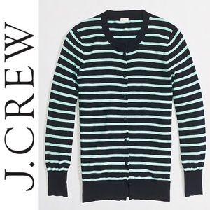 J. Crew Clara Striped Cardigan